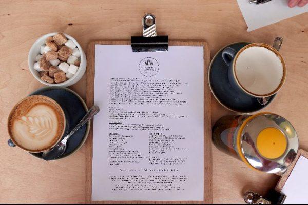 Menu at Starfish and Coffee, Brighton