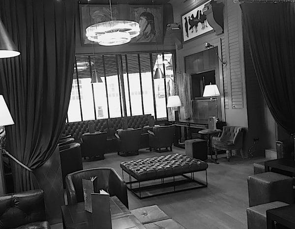 Bar area at Third Avenue in Hove