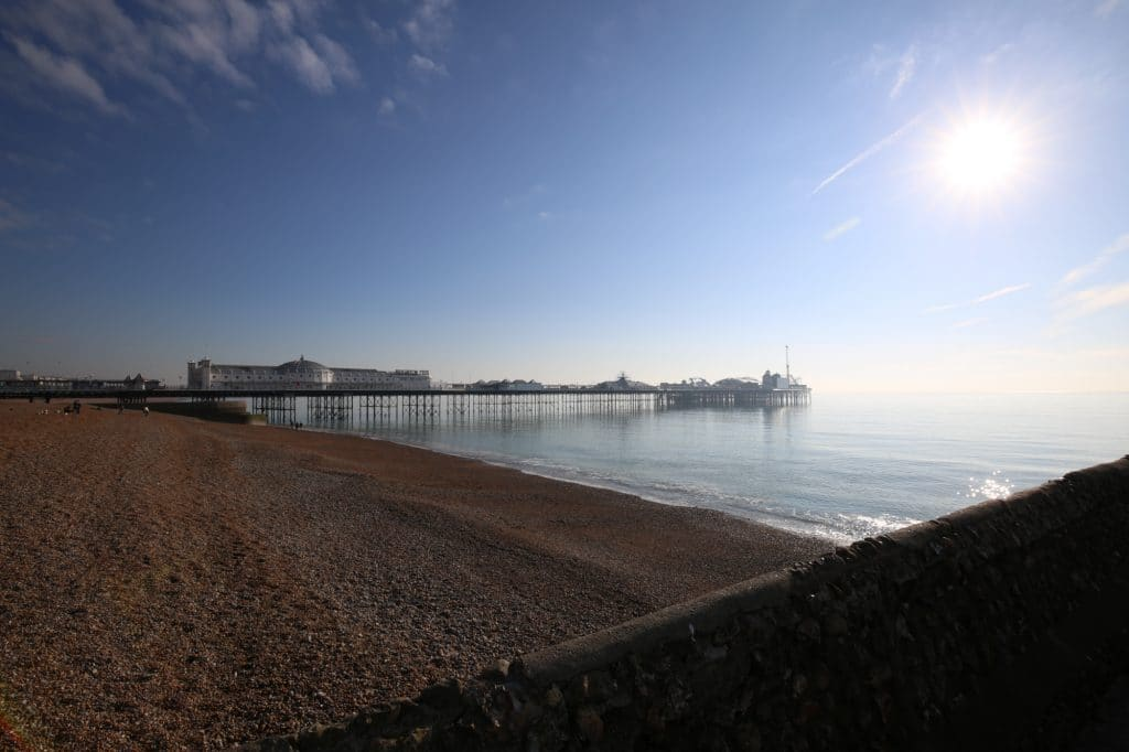 Brighton Beach - views of West Pier