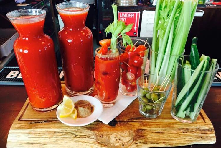 Bloody Marys at the Good Companions Seven Dials