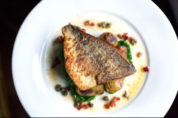 Pan roasted sea bream at Grow 40