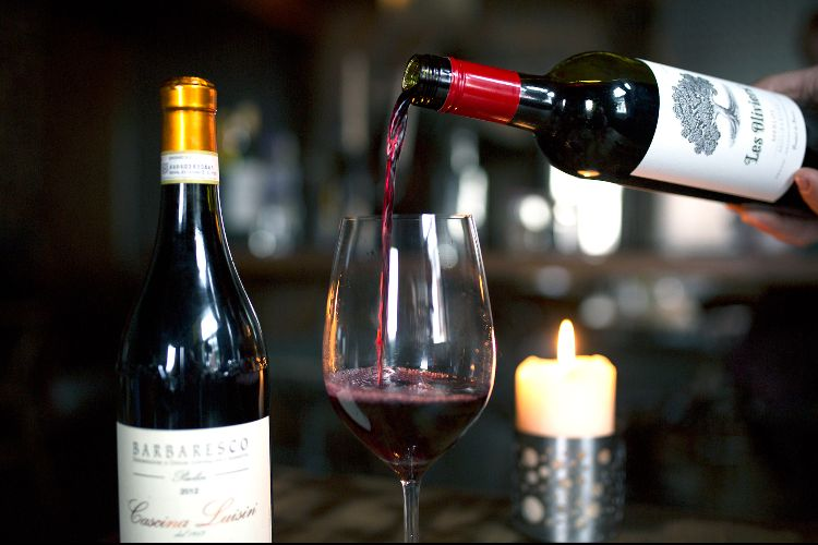 Red wine at Grow 40 - Valentine's Day Restaurants in Brighton