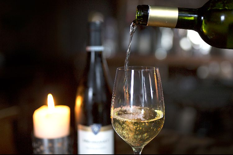 White wine at Grow 40 - Christmas wines