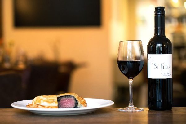 Beef Wellington and wine at Limes of Lindfield