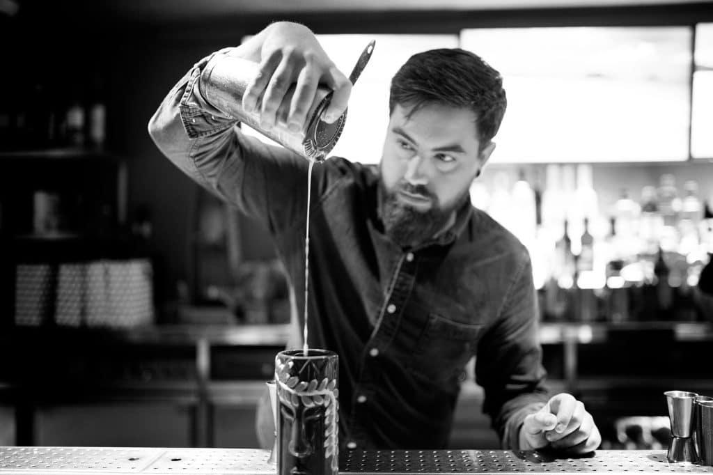 barman at merkaba making cocktails