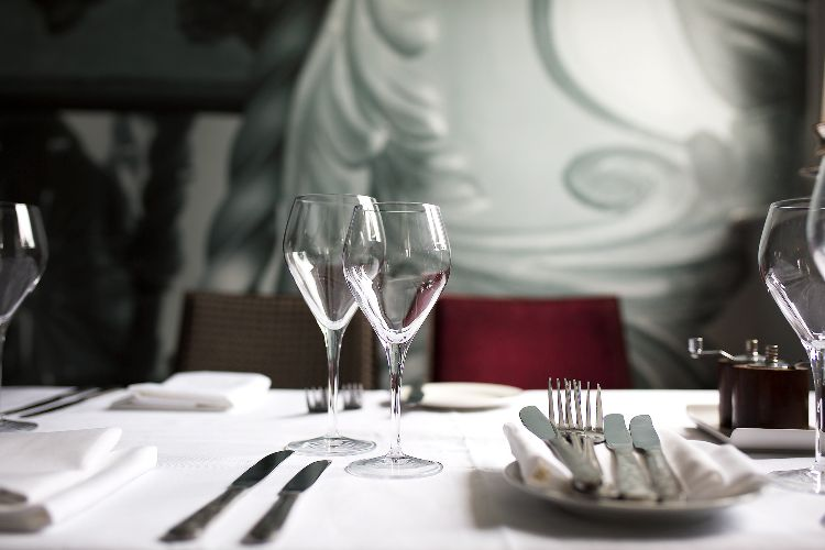 Table setting at Steak On Sea, The Old Ship Hotel, Brighton