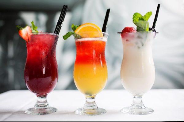 Long cocktails at Steak on Sea