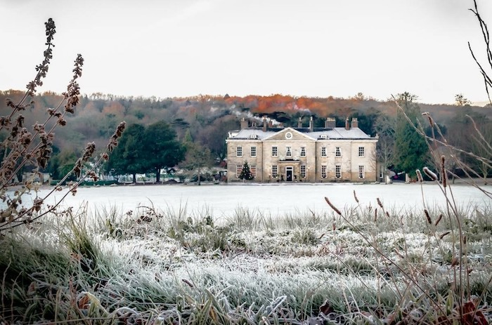 Proud Country House in the snow