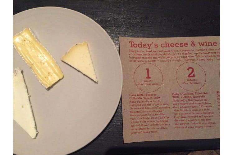 Cheese plate at ten green bottles