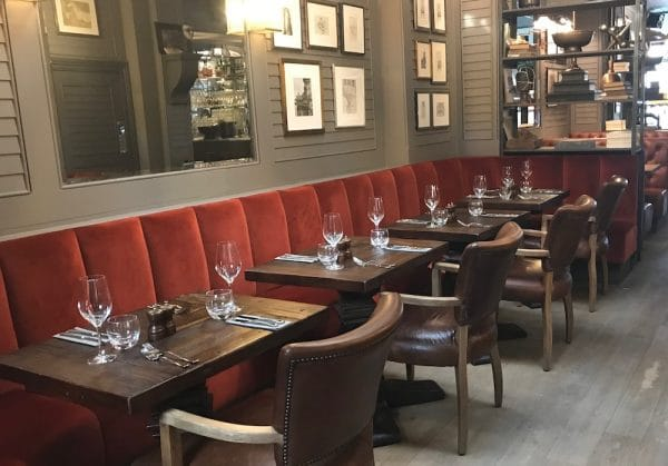 Dining at the Grill Room at Third Avenue Hove