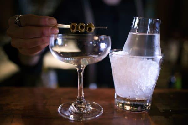 Martini cocktail at Third Avenue Hove
