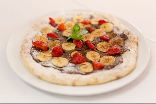 Nutella and banana pizza at West Pier Pizzeria