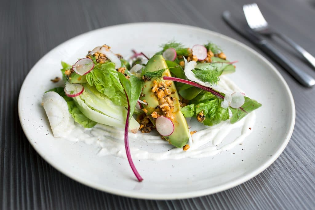Avocado dish at Food For Friends