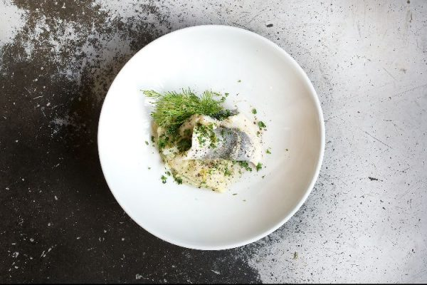 Mange Tout Brighton fish with dill