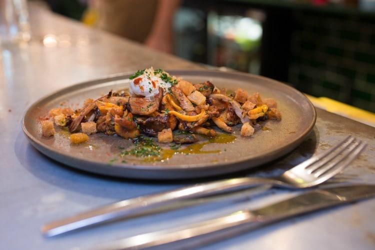 Wild mushrooms at Market Restaurant Hove