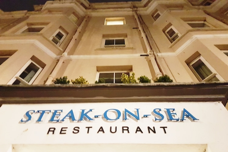 Steak-on-Sea at the historic Old Ship Hotel