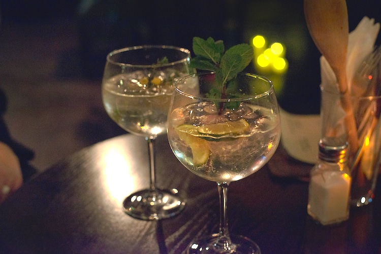 West Hill Tavern gin goblets