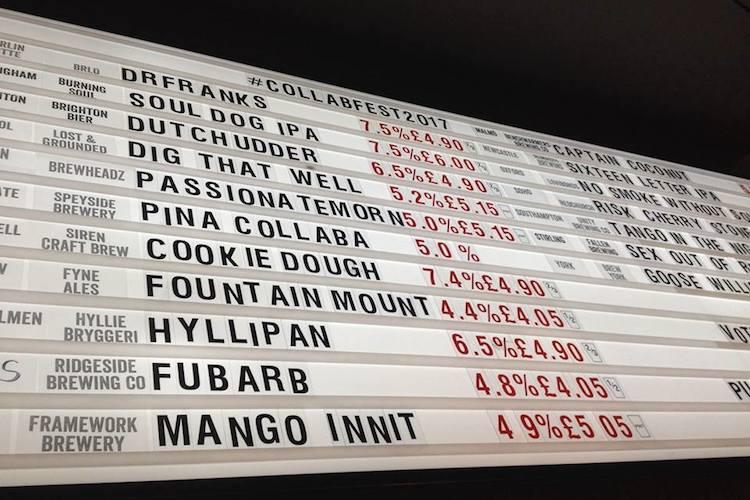 BrewDog Brighton Ale List