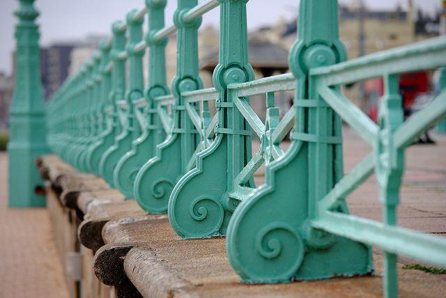Green Railings in Brighton via Pinterest