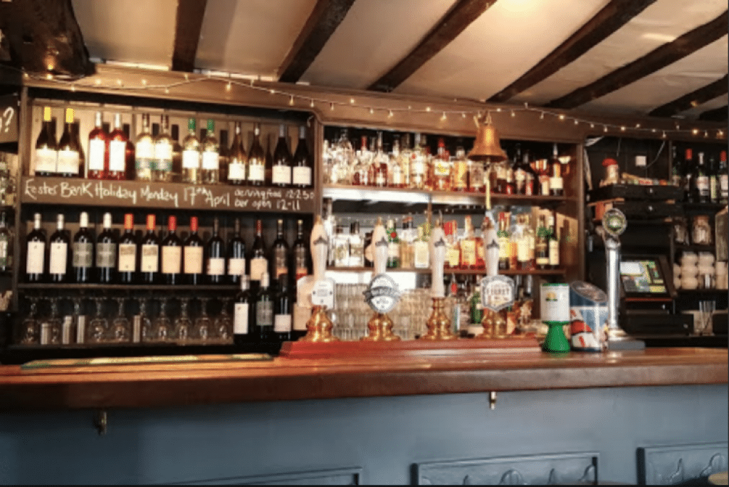 The bar at Pelham Scott - Lewes Restaurants