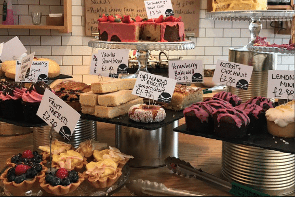 Selection of cakes - Lewes restaurants