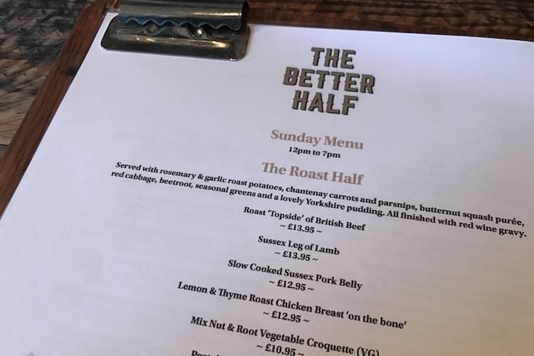Better Half Pub Sunday Roast Review