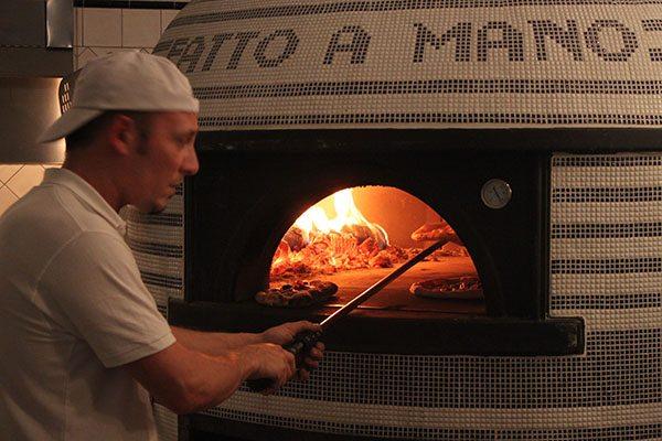Pizza making at Fatto a Mano