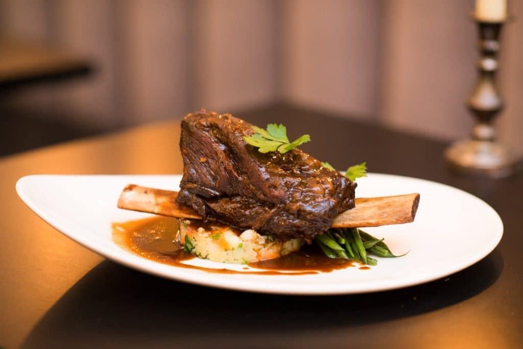 Steak dish at Le Nanatis Bistro Hove
