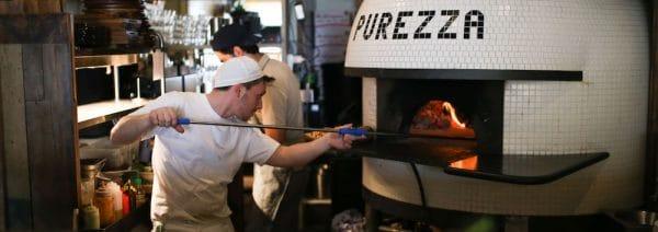 Purezza Brighton - vegan pizza. Finalist most Brighton restaurant award