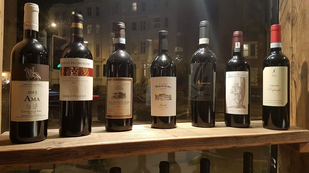 Wines at Franco Osteria Restaurants Brighton
