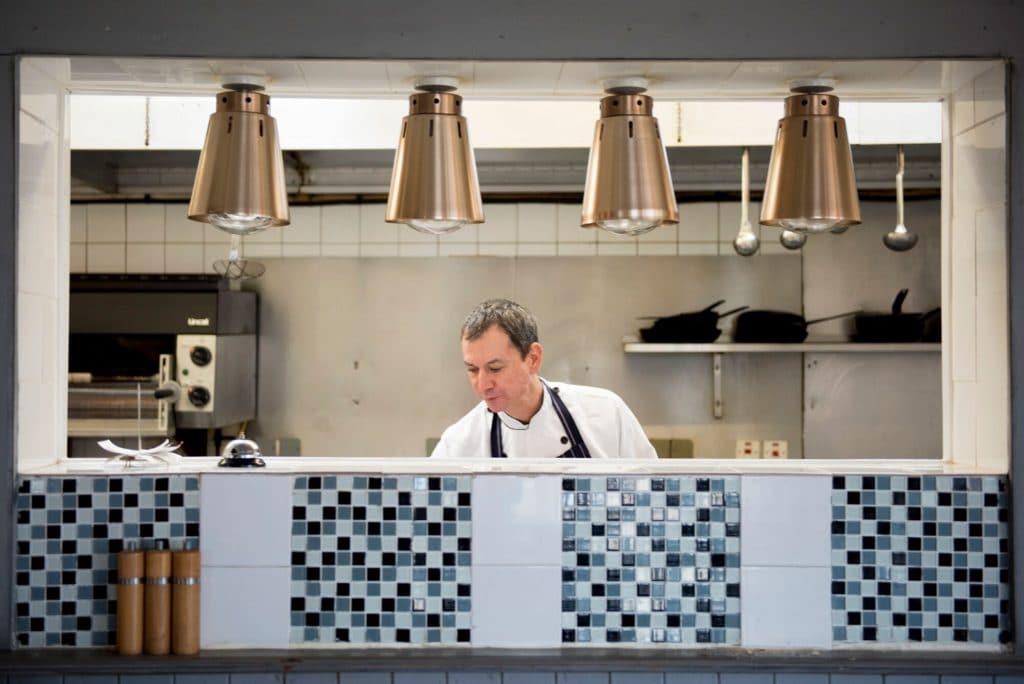 Chef at work at The Wheatsheaf Restaurants Brighton