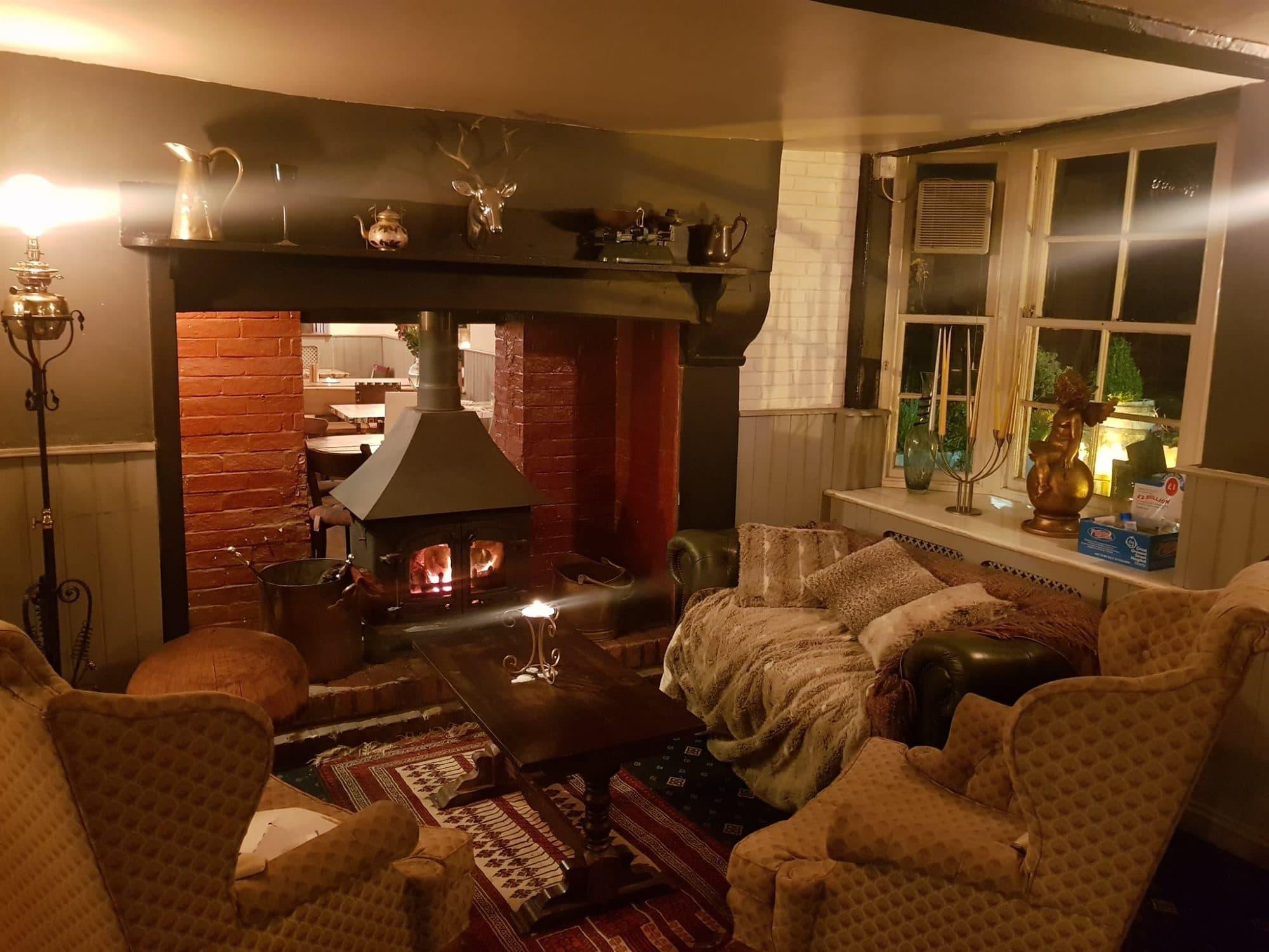 Fire place at Wheatsheaf Restaurants Brighton