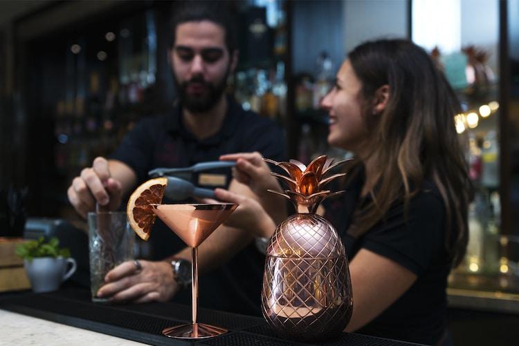 Cocktail mastercleass Hilton Brighton Waterhouse Bar - Romantic Restaurants Brighton