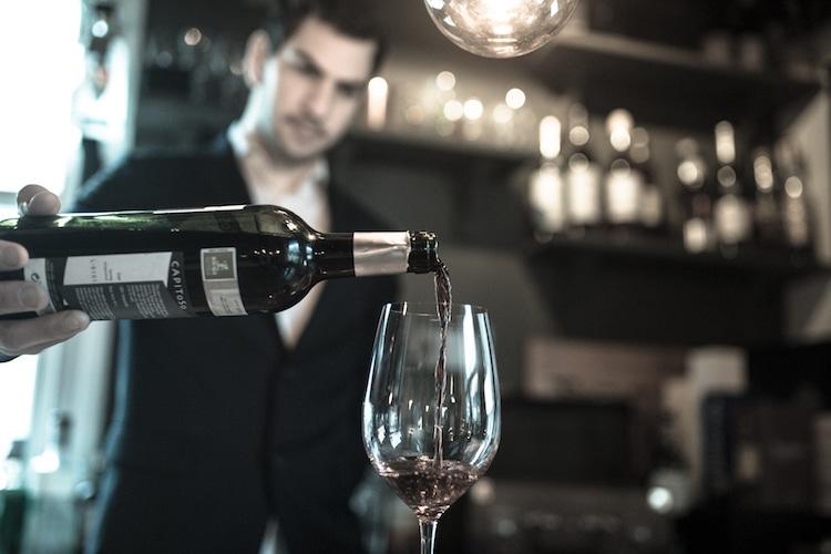 L'Atelier du vin brighton pouring wine
