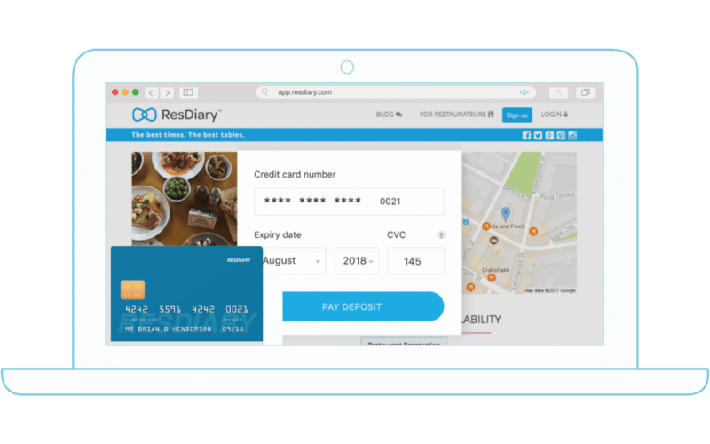 Laptop - book a restaurant online with ResDiary