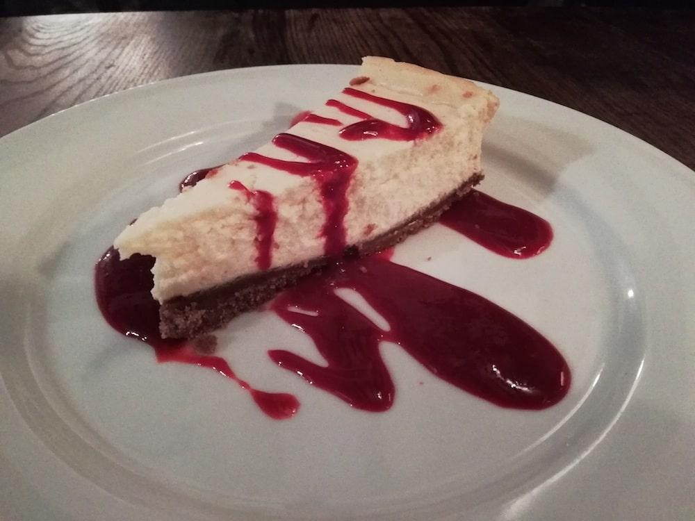 Cheesecake at The Wheatsheaf Brighton