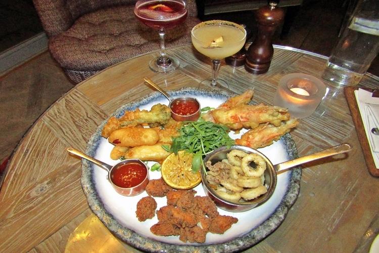 food platter at harbar jazz night