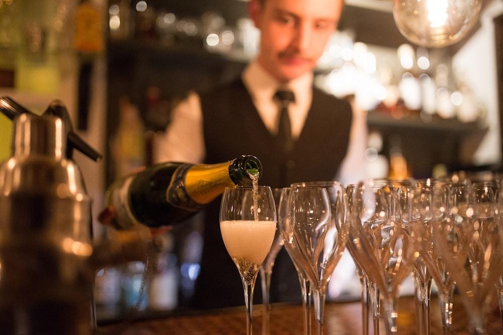 Wine pouring at L'Atelier Du Vin - Bottomless Brunch Brighton