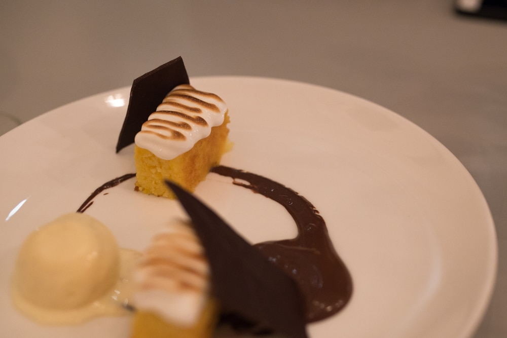 Corn cake dessert at Murmur