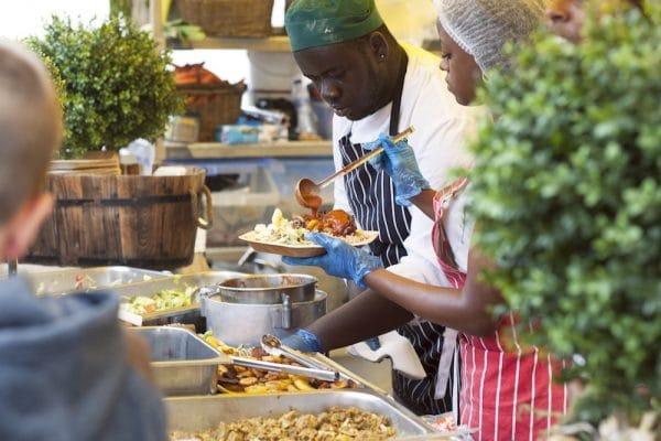 Stall at Foodies Festival Brighton