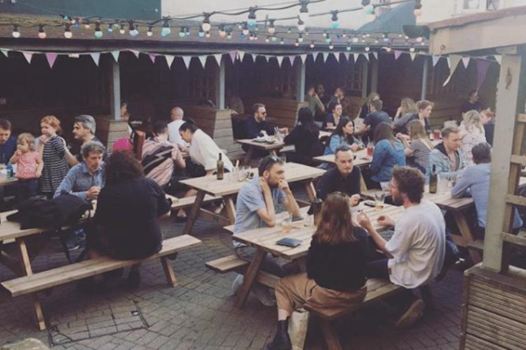 Beer gardens Brighton - photo credit Sidewinder Facebook