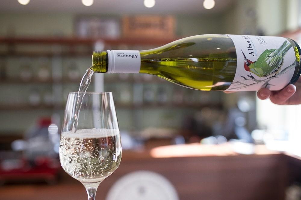 Pouring Albourne Estate wines