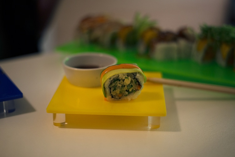 crunchy berro roll at tropical sushi