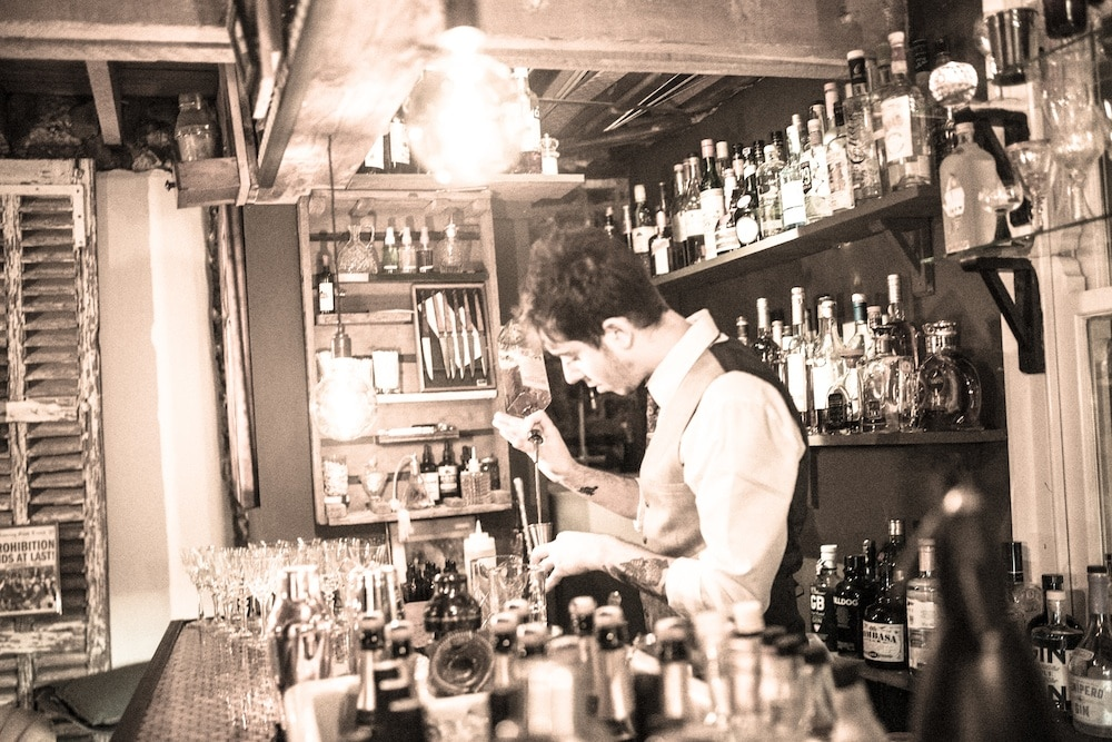 Barman at L'atiler du Vin Brighton