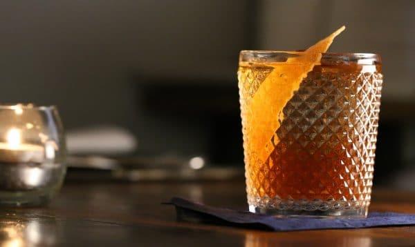 Orange based cocktail at The Salt Room