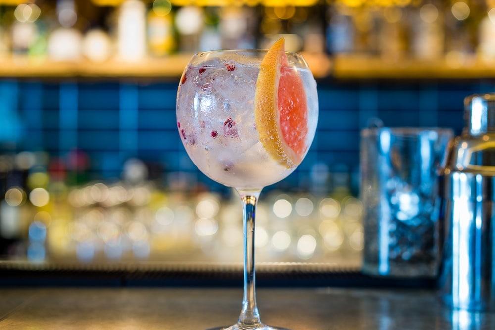 G&T cocktail at The Salt Room
