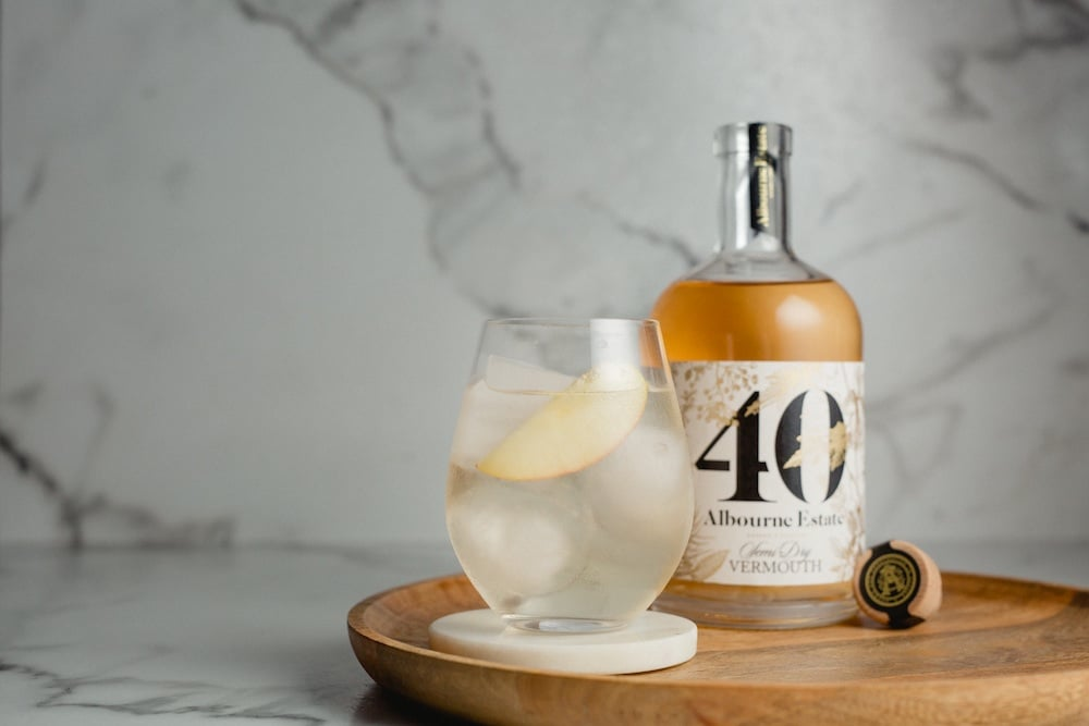 Cocktail with Vermouth Albourne Estates