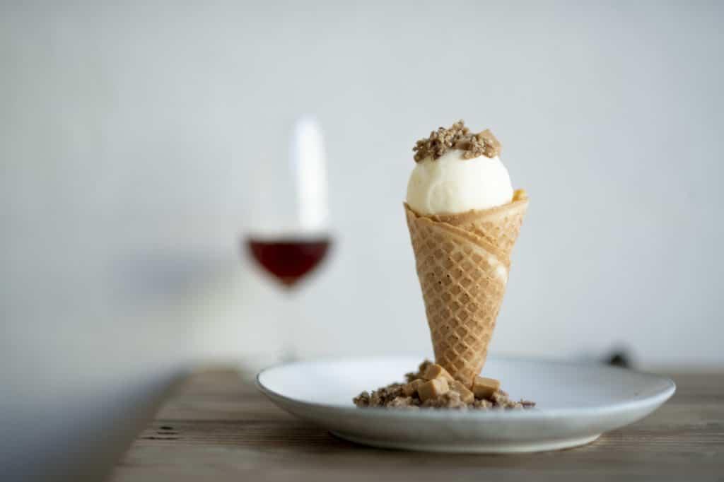 Waffle cone and icecream