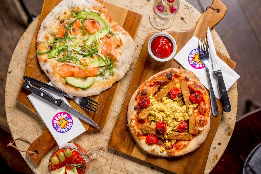 Cosmic Pizza Brighton Brunch Menu