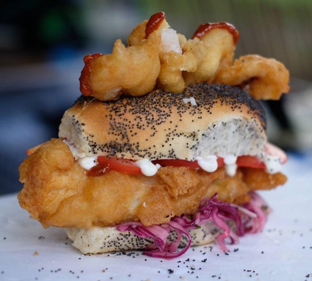 Fish Finger Sandwich at Brighton's Street Diner